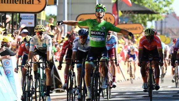 Трикратният световен шампион Петер Саган спечели 5-ия етап в Обиколката