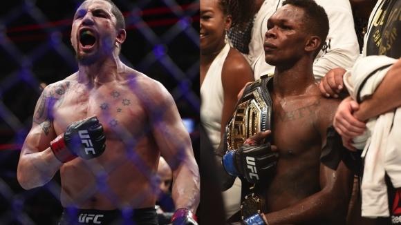 Временният шампион в средната категория на UFC Израел Адесаня все