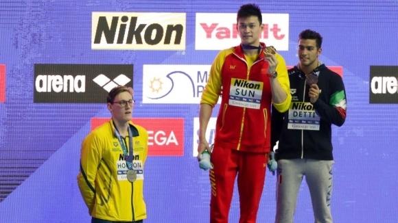 Ян Сун спечели титлата на 400 метра свободен стил на