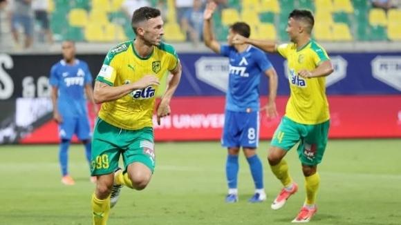Нападателят Апостолос Яну вкара първия гол за АЕК (Ларнака) при