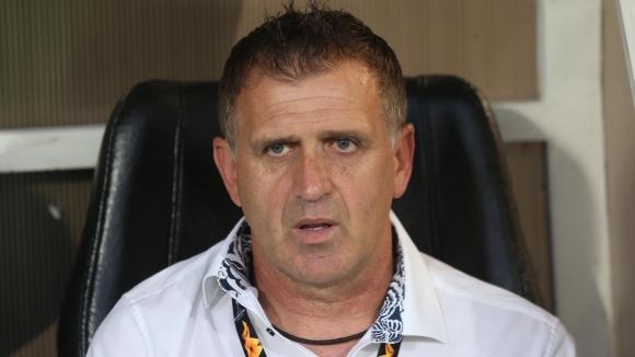 Наставникът на Локомотив (Пловдив) Бруно Акрапович бе повече от радостен