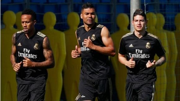 Полузащитникът на Реал Мадрид Хамес Родригес се появи на днешната