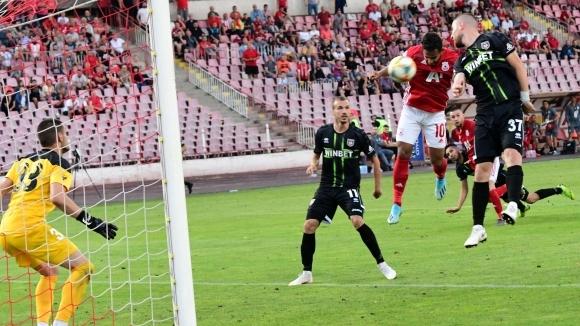 Нападателят на ЦСКА-София Евандро, който вкара победното попадение за домакинската