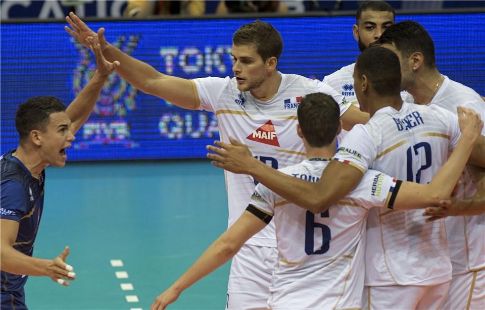 Волейболистите от националния отбор на Франция записаха категорична победа на