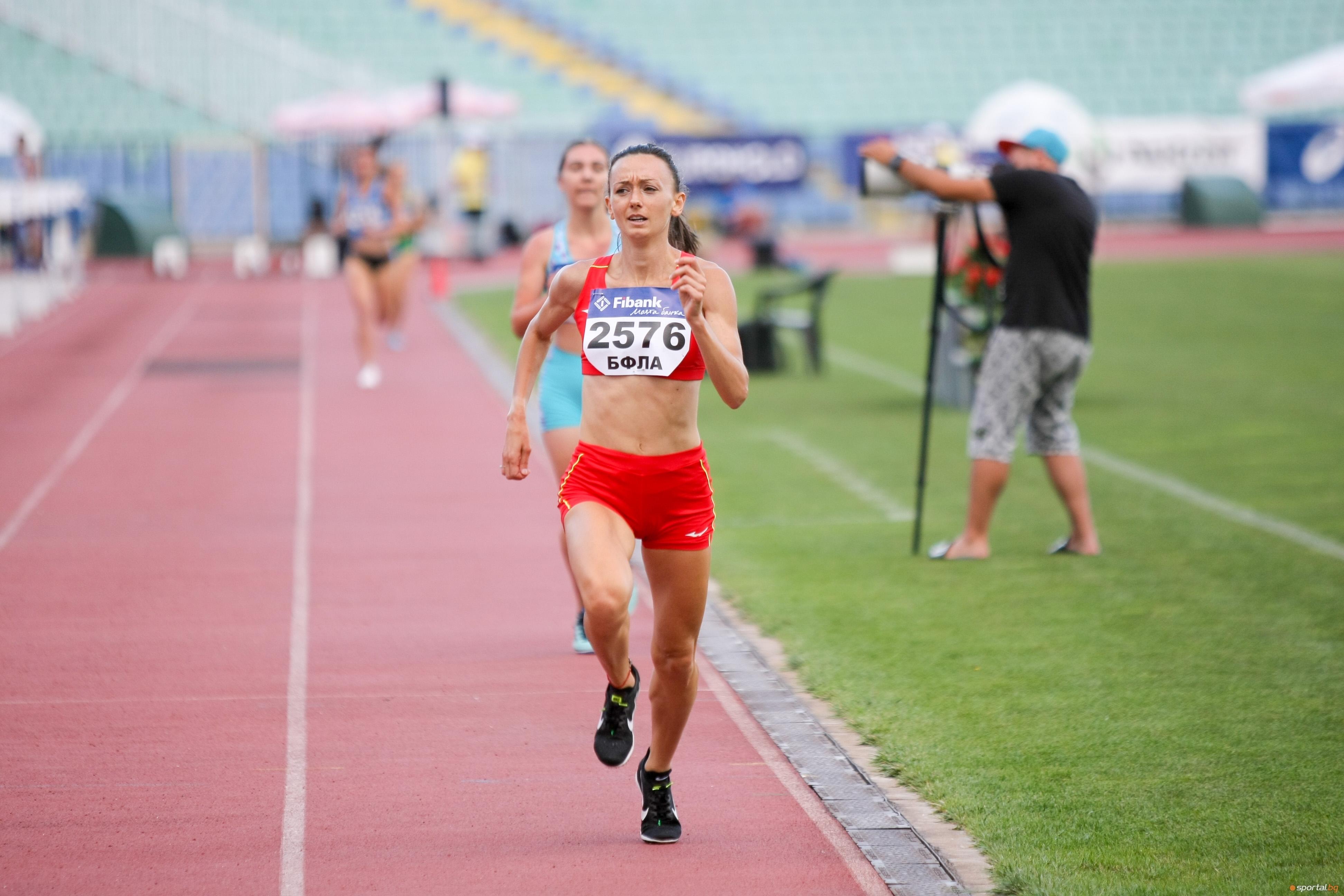 Милица Мирчева се пребори за второто място на 3000 метра