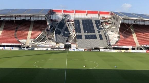 Част от покрива на съоръжението на АЗ Алкмаар AFAS Stadion