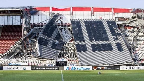 Снимка: АЗ Алкмаар приема Мариупол в Хага след срутването на клубния стадион