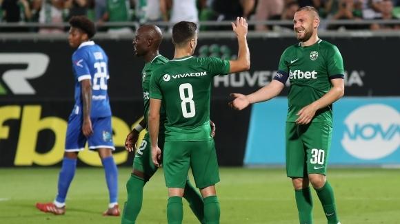 Отборът на Лудогорец излиза за втория си мач срещу уелския