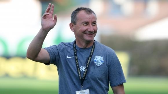 Старши треньорът на Арда (Кърджали) Стамен Белчев говори пред