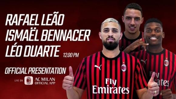 Снимка: Милан представи три от новите си попълнения
