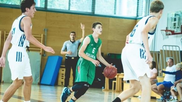 Националният отбор по баскетбол за момчета до 14-годишна възраст претърпя