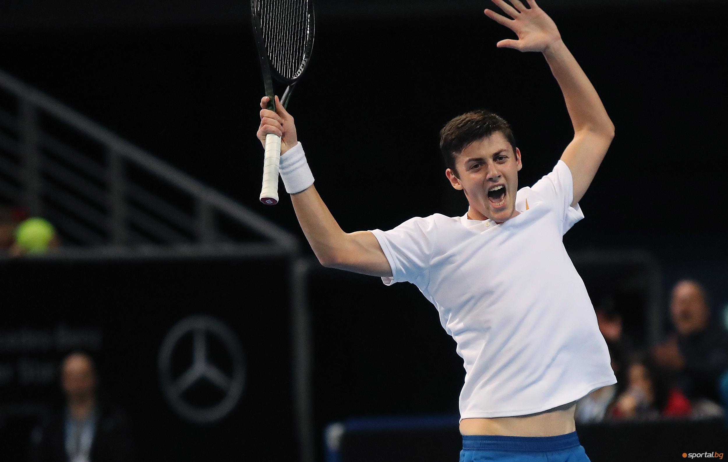 Александър Лазаров спечели титлата на двойки на турнира по тенис