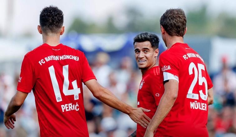 Филипе Коутиньо и Иван Перишич вкараха първите си голове за
