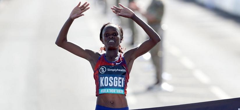 Кенийката Бригид Косгей, която спечели Лондонския маратон през април, постави