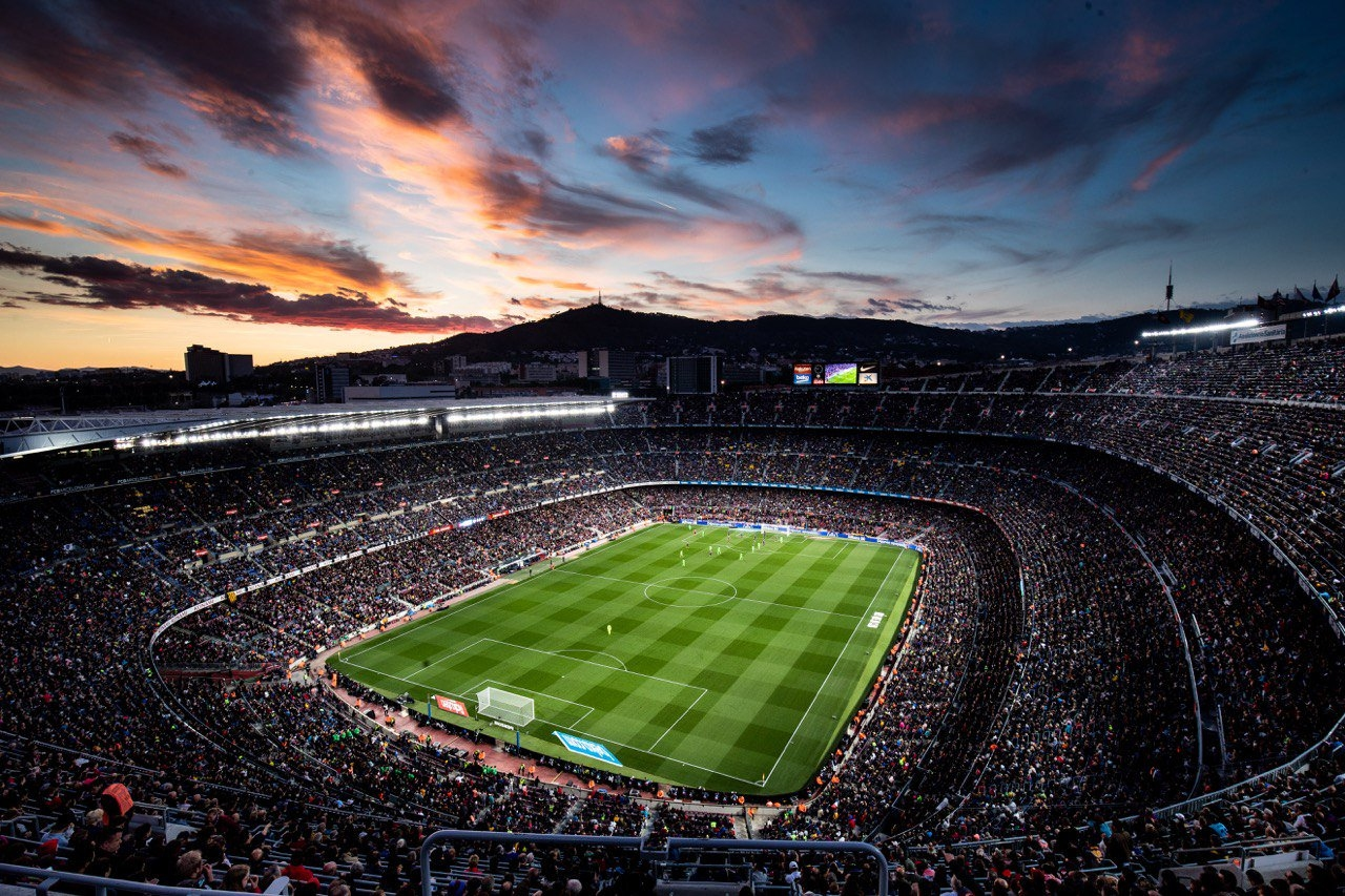 Домакинските мачове на испанския гранд Барселона са най-посещаваните в европейските