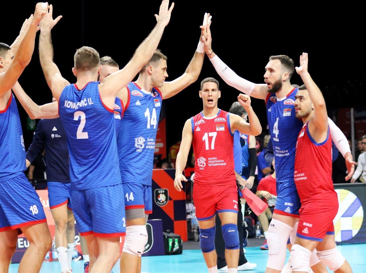 Волейболистите от националния отбор на Сърбия стартираха чудесно участието си