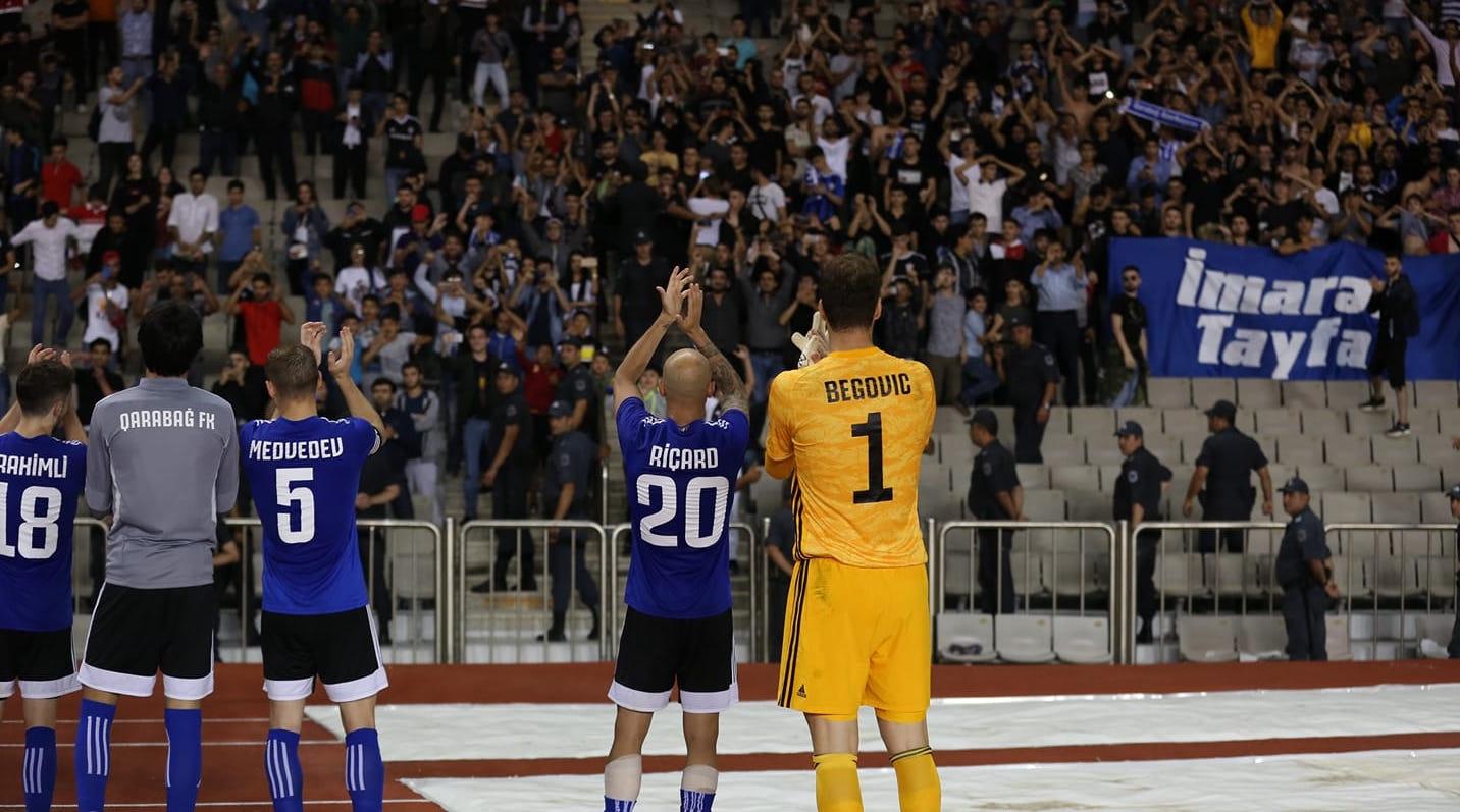 Карабах продължава наказателната си акция в първенството на Азербайджан. Шампионите