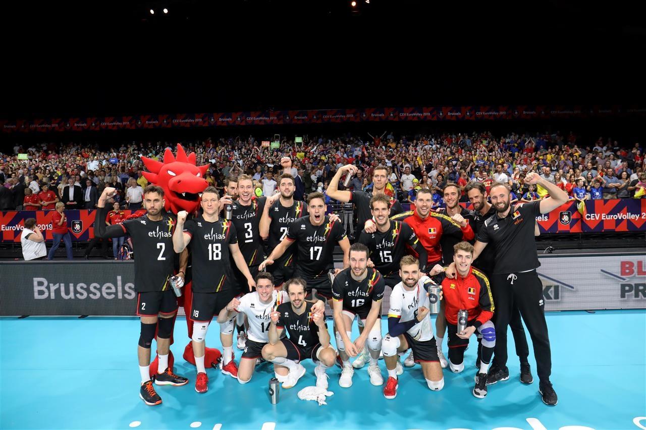 Националният волейболен отбор на Белгия постигна изключително драматична втора победа