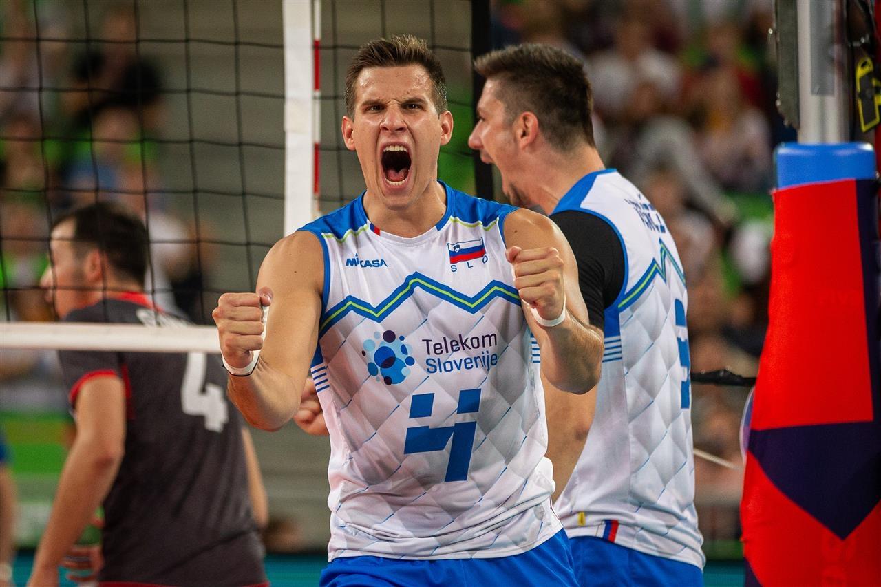Мъжкият национален отбор на Словения се поздрави с трети пореден