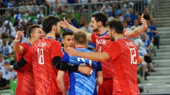 Настоящият европейски шампион Русия постигна 4-а поредна победа на Евроволей