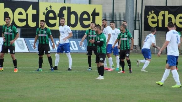 Отборът на Нефтохимик (Бургас) спечели инфарктно с 1:0 дербито с