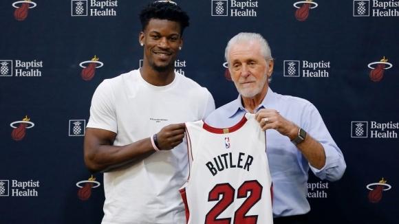 Джими Бътлър официално бе представен като баскетболист на Маями, а