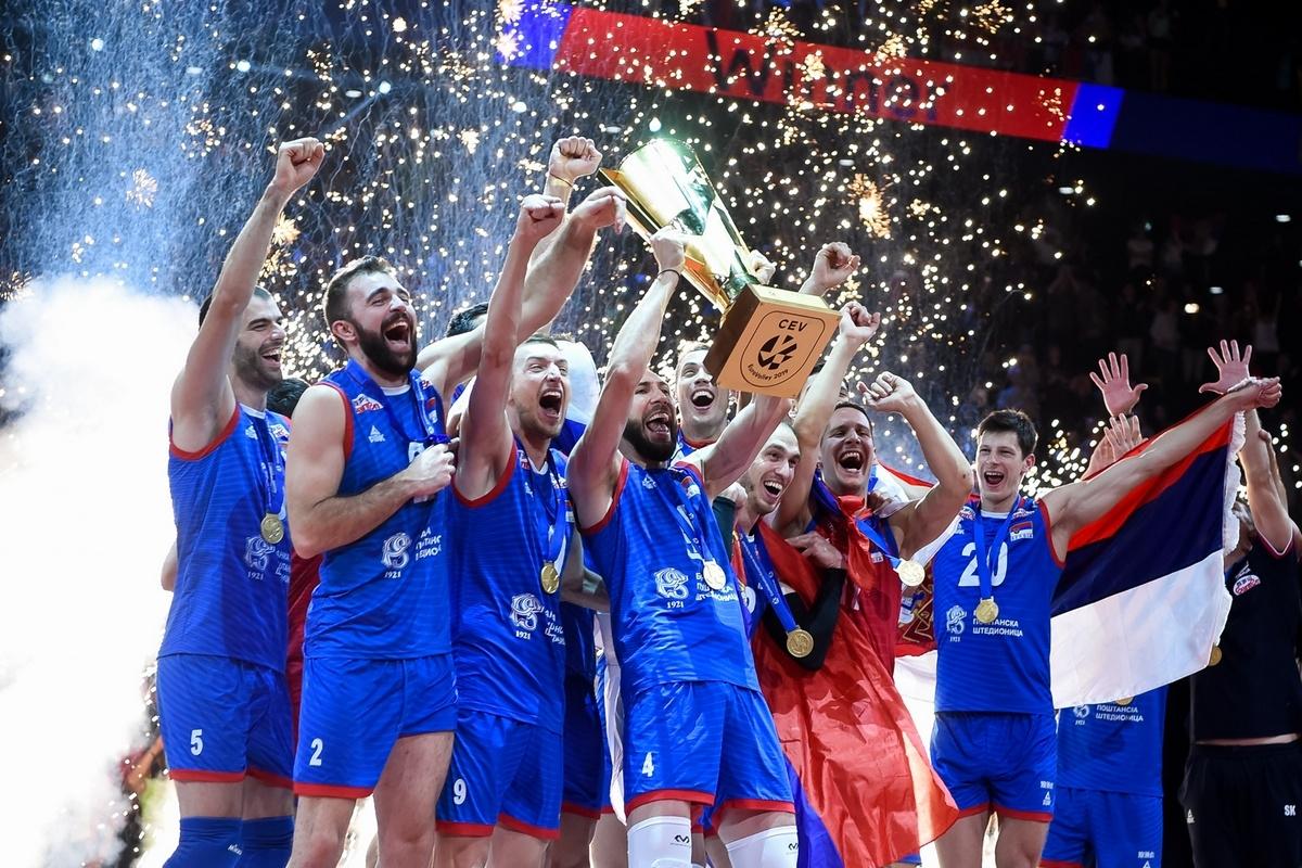 Волейболистите на Сърбия снощи спечелиха европейската титла на шампионата, който