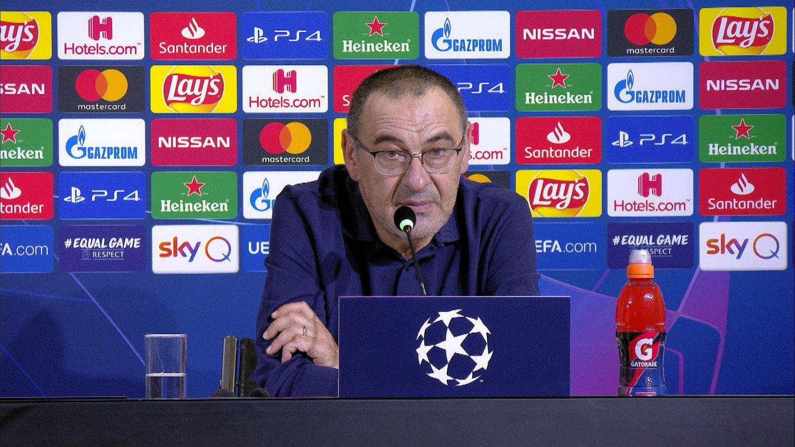 Старши треньорът на Ювентус Маурицио Сари е доволен, че отборът