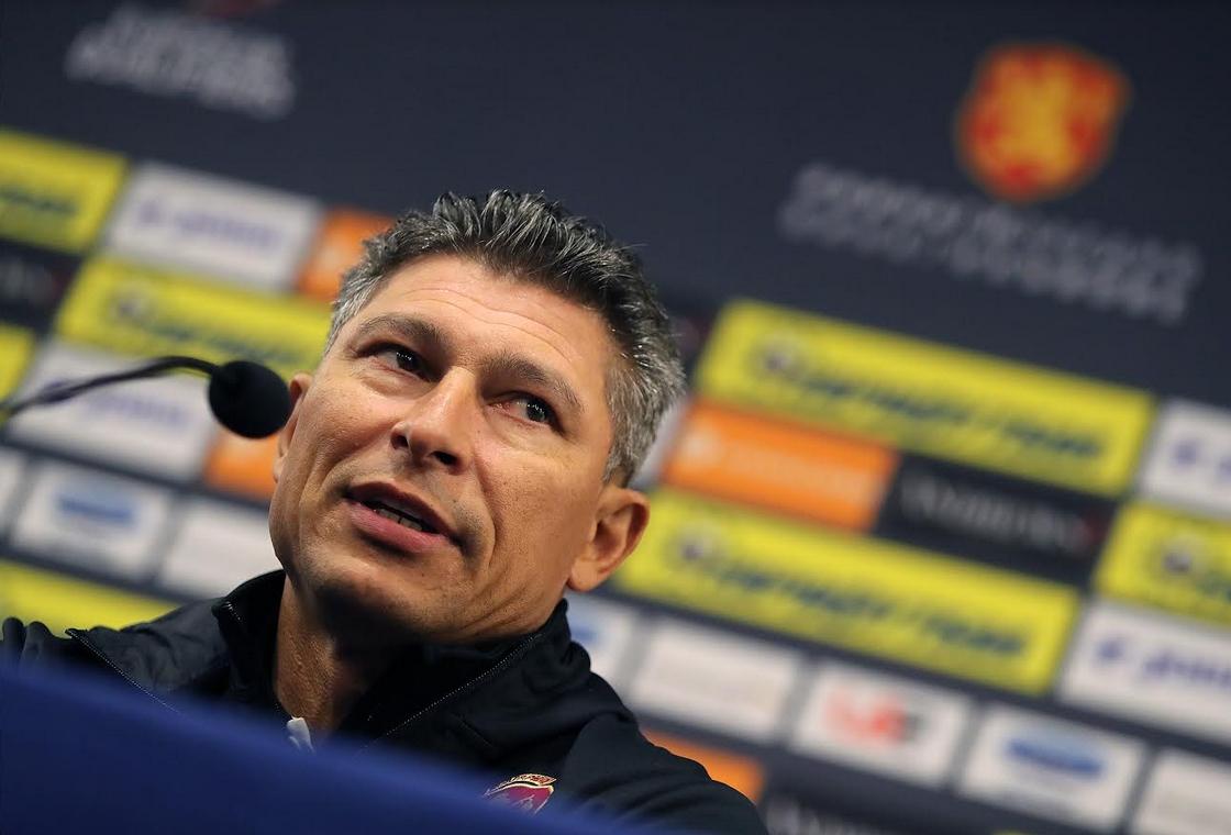 Селекционерът на националния отбор по футбол Красимир Балъков говори пред