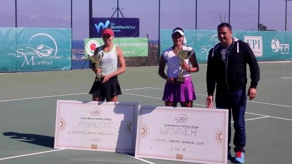 Българката Петя Аршинкова спечели титлата от международния турнир по тенис