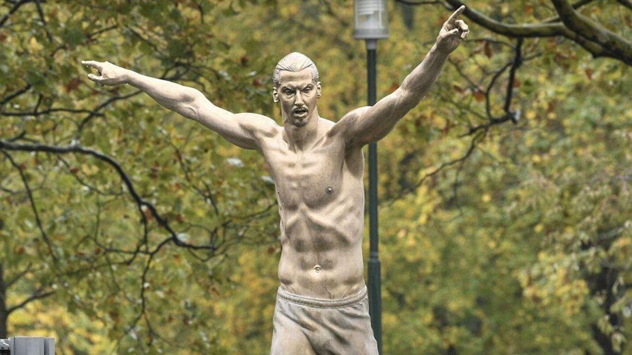 В Швеция бе открита бронзова статуя на Златан Ибрахимович. В