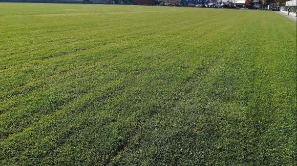 Завършено бе полагането на новото тревно покритие на терен 2