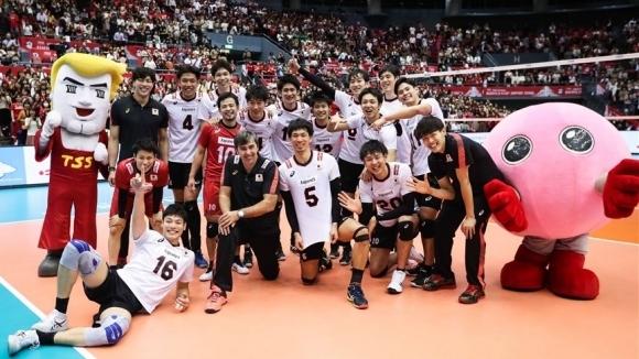 Волейболистите от националния отбор на Япония продължават успешното си представяне