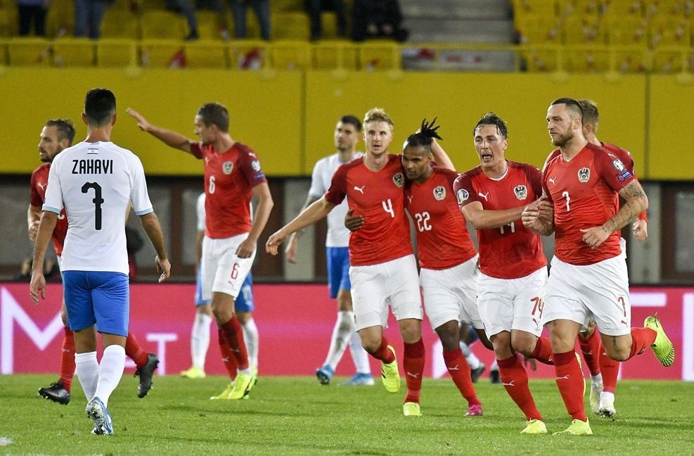 Австрия надви с 3:1 Израел и излезе на второ място