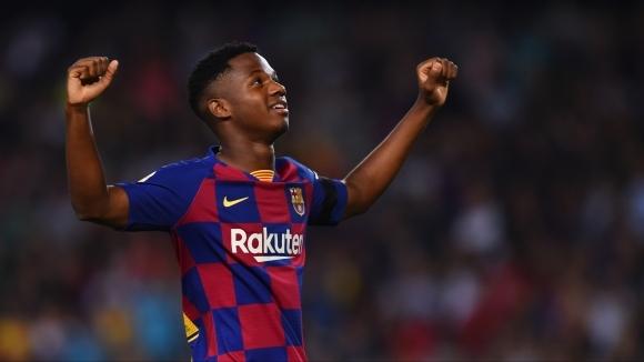 Нападателят на Барселона Ансу Фати беше извикан в младежкия национален