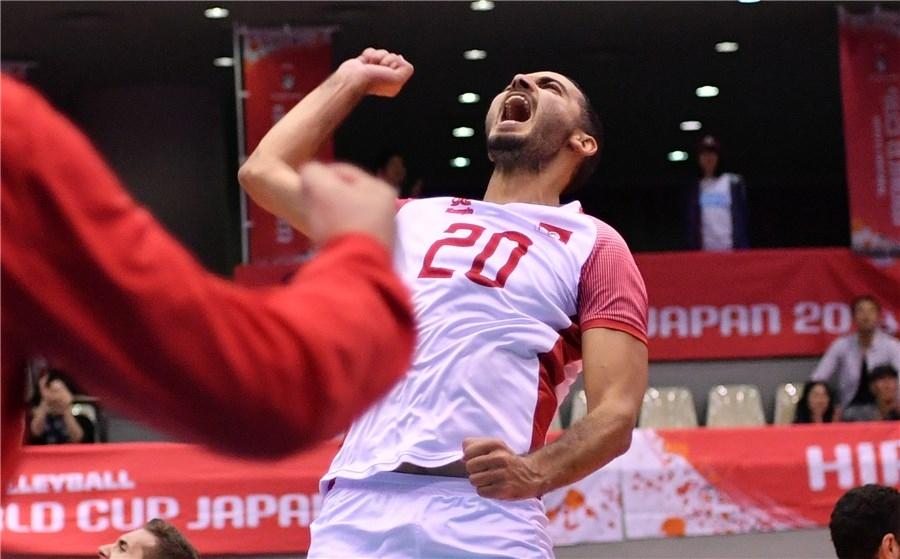 ъжкият национален отбор на Тунис по волейбол записа първи успех