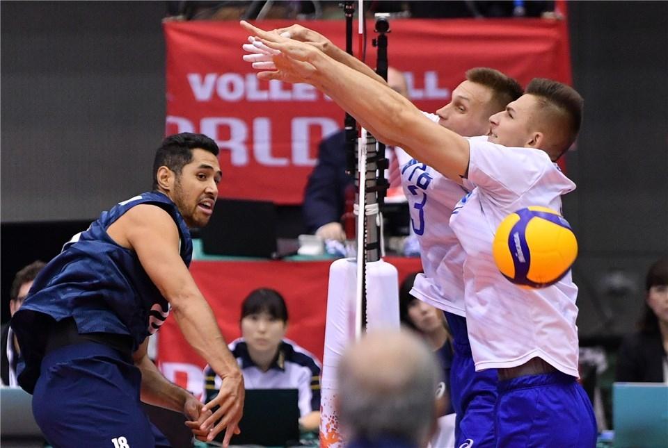 Волейболистите на САЩ разгромиха Русия с 3:0 (25:23, 25:11, 25:16)