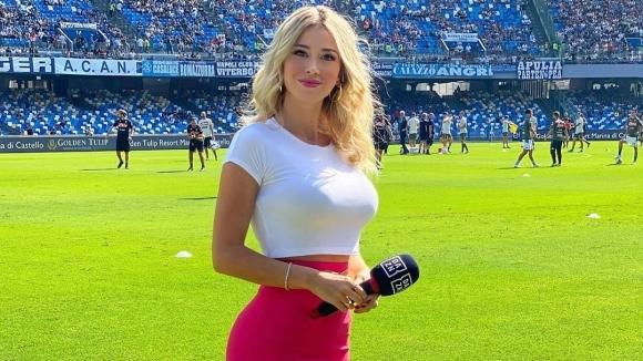 Италианската спортна журналистка Дилета Леота зарадва феновете си с перфектна