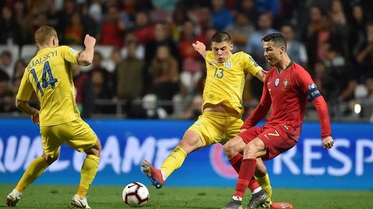 Отборът на Украйна приема Португалия в двубой от група В