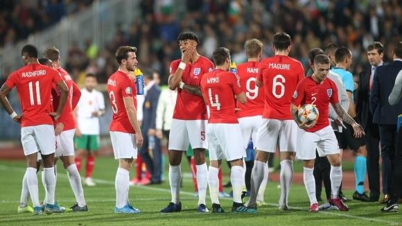 Второто полувреме от европейската квалификация между България и Англия е
