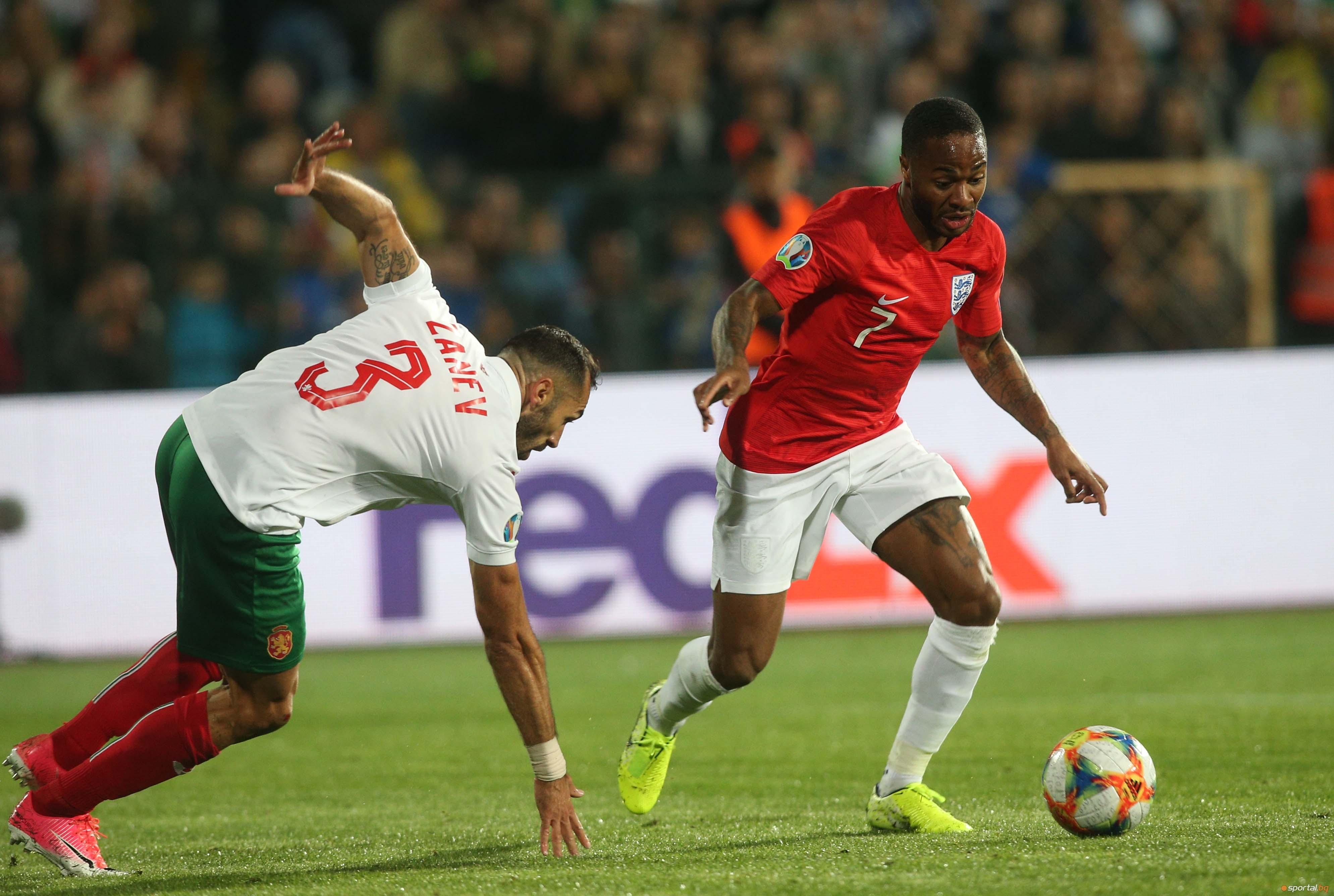 Бранителят на националния отбор на България Петър Занев бе крайно