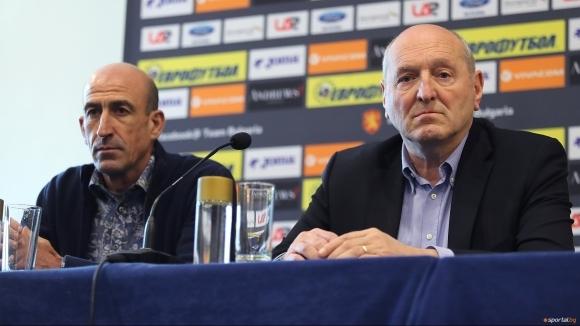 Новият президент на Българския футболен съюз Михаил Касабов сподели първите