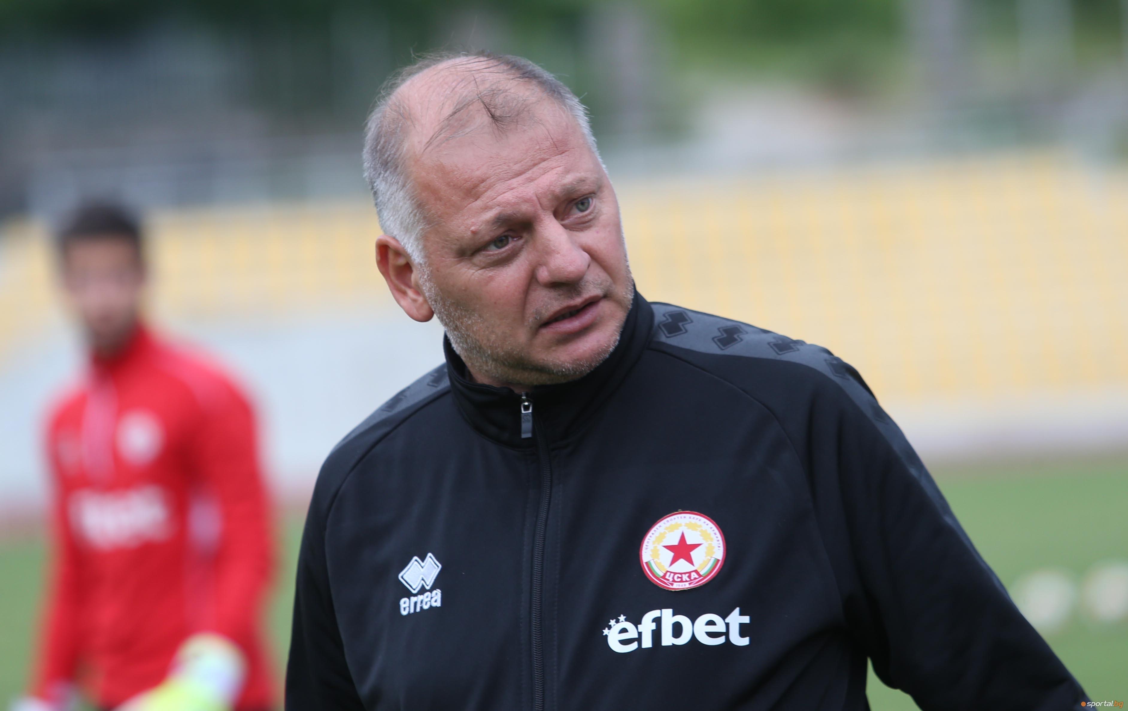 Петко Петков вече не е старши треньор на ЦСКА 1948.