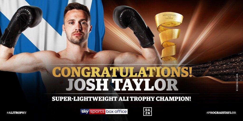 Джош Тейлър (Шот) спечели Световните боксови суперсерии и взе престижния