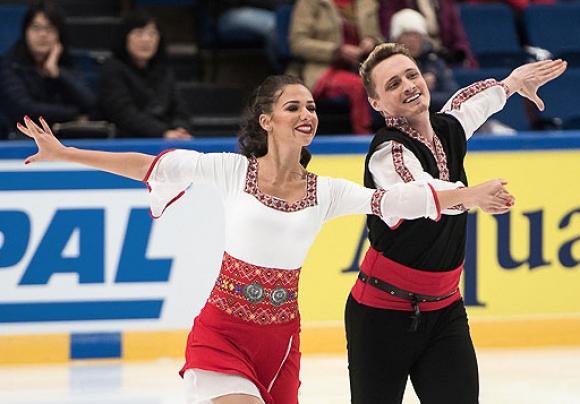 Състезателите по танци на лед Мина Здравкова и Кристофър Дейвис