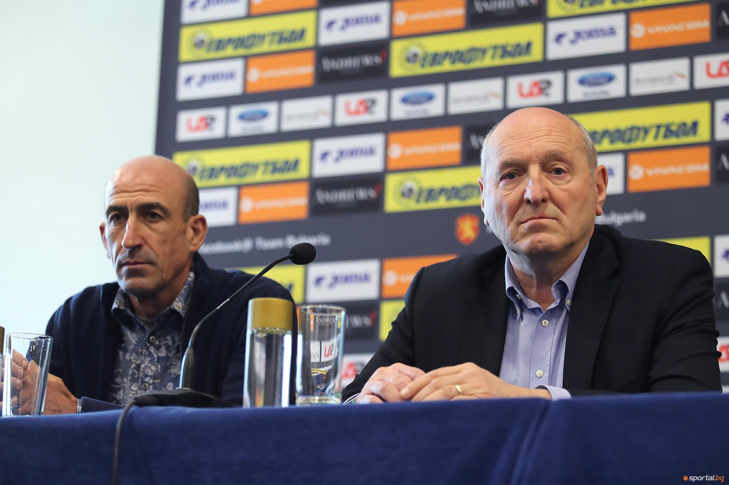 Президентът на Българския футболен съюз Михаил Касабов, който вече е