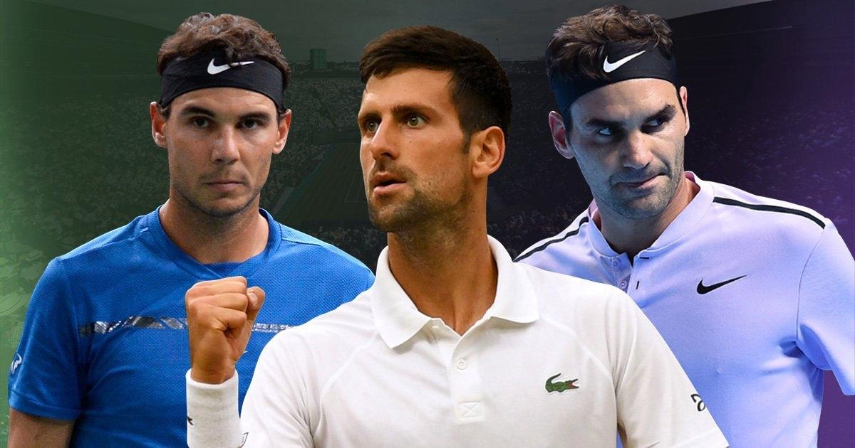 Тримата тенис титани Роджър Федерер, Новак Джокович и Рафаел Надал
