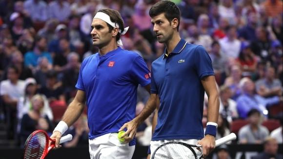 Две от живите легенди на тениса Роджър Федерер и Новак