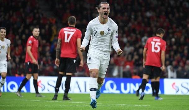 Световният шампион Франция победи Албания като гост с 2:0 и
