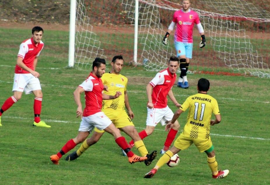 Футболистите на Черноломец (Попово) и Септември (Тервел) завършиха наравно 1:1